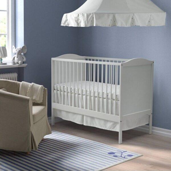 СМОГЁРА Кроватка детская, белый, 60x120 см - 904.612.33