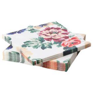 СМАКСИННЕ Салфетка бумажная, разноцветный, цветок, 33x33 см - 204.788.16