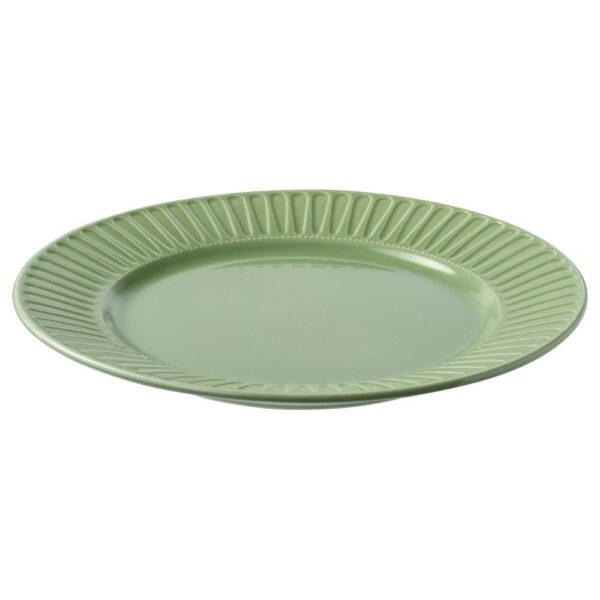 СТРИММИГ Тарелка, каменная керамика, зеленый, 27 см - 004.378.79