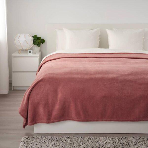 ТРАТТВИВА Покрывало, темно-розовый, 230x250 см - 304.421.86