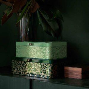 АНИЛИНАРЕ Декоративная коробочка, 2 шт., зеленый золотой, металлический - 304.651.68