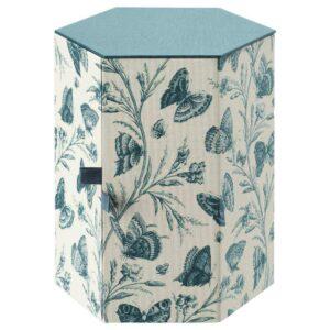 АНИЛИНАРЕ Декоративная коробка, зеленый, бабочка бумага, 14x16 см - 804.650.43