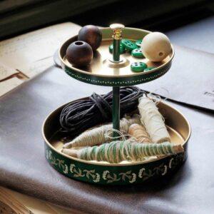 АНИЛИНАРЕ Подставка д/канцелярских принадлежн, зеленый золотой, металлический, 12x11 см - 504.651.53