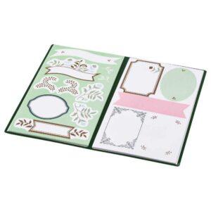 АНИЛИНАРЕ Папка с наклейками, зеленый бежевый, с цветочным орнаментом - 304.650.45