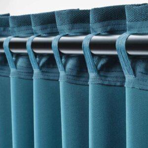 АННАКАЙСА Затемняющие гардины, 1 пара, синий, 145x300 см - 504.629.94
