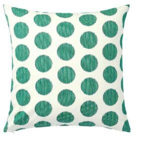 ОСАТИЛЬДА Чехол на подушку, неокрашенный темно-зеленый, точечный, 50x50 см - 504.565.49