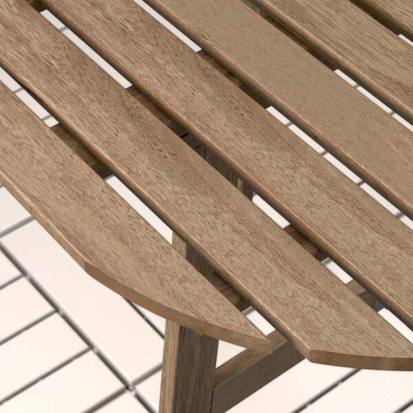 АСКХОЛЬМЕН Стол+2 складных стула, д/сада, серо-коричневая морилка, ФРЁСЁН/ДУВХОЛЬМЕН синий - 192.623.27