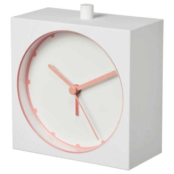 БАЙК Будильник, белый, 10x10 см - 004.663.05