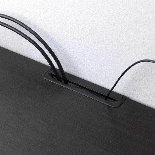 БЕСТО Шкаф для ТВ, комбин/стеклян дверцы, Ханвикен черно-коричневый прозрачное стекло, 240x40x230 см - 992.820.10