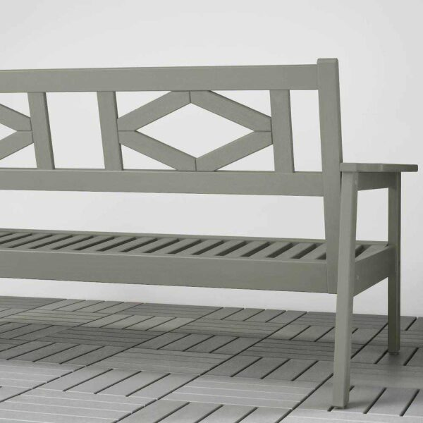 БОНДХОЛЬМЕН 2-местный диван,садовый, серый морилка, 139x81x73 см - 204.206.65