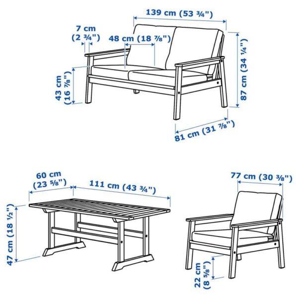 БОНДХОЛЬМЕН 4-местный комплект садовой мебели - 793.237.66
