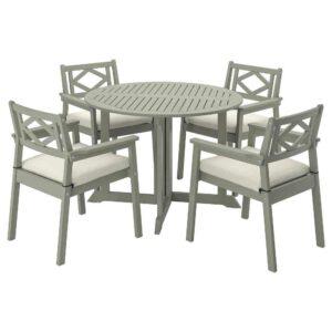 БОНДХОЛЬМЕН Стол+4 кресла, д/сада - 093.305.10