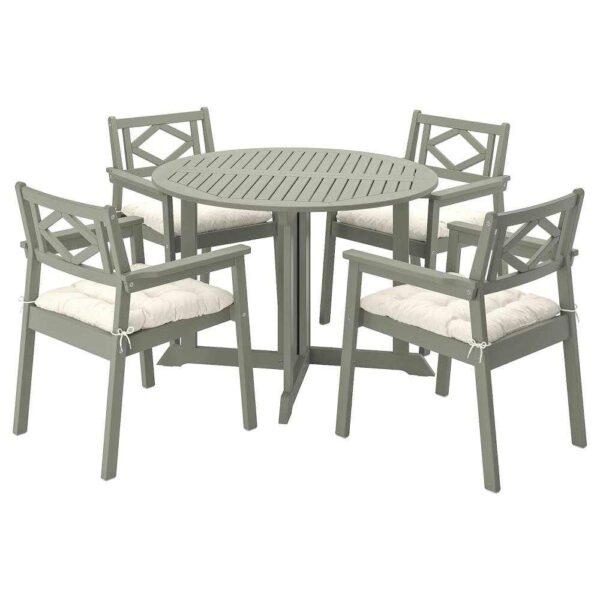 БОНДХОЛЬМЕН Стол+4 кресла, д/сада - 093.305.67
