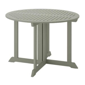 БОНДХОЛЬМЕН Садовый стол, серый морилка, 108 см - 704.206.15