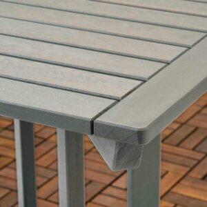 БОНДХОЛЬМЕН Садовый стол, серый морилка, 65x65 см - 504.206.16