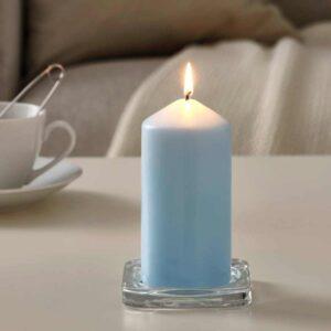 ДАГЛИГЕН Неароматич свеча формовая, голубой, 14 см - 104.524.97