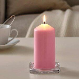 ДАГЛИГЕН Неароматич свеча формовая, светло-розовый, 14 см - 804.524.89