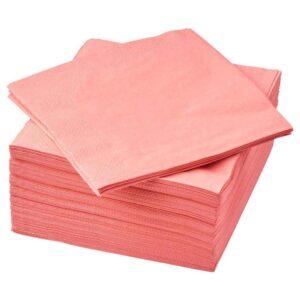 ФАНТАСТИСК Салфетка бумажная, светлый красно-розовый, 40x40 см - 504.364.05