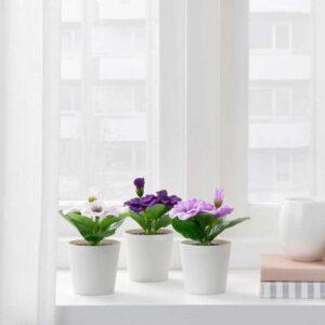 ФЕЙКА Искусственное растение и кашпо, д/дома/улицы Фиалка, 6 см - 304.524.77