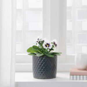 ФЕЙКА Искусственное растение в горшке, д/дома/улицы Фиалка, белый, 9 см - 004.523.94