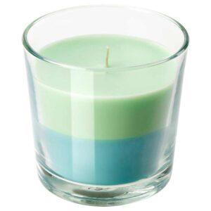 ФОРТГО Ароматическая свеча в стакане, Лайм и мята, зеленый синий, 9 см - 604.558.70