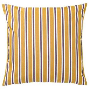 ФУНКЁН Чехол на подушку, д/дома/улицы, темно-желтый, фиолетовый, 50x50 см - 604.384.61