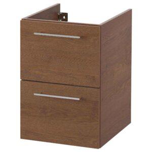 ГОДМОРГОН Шкаф для раковины с 2 ящ, под коричневый мореный ясень, 40x47x58 см - 304.579.36