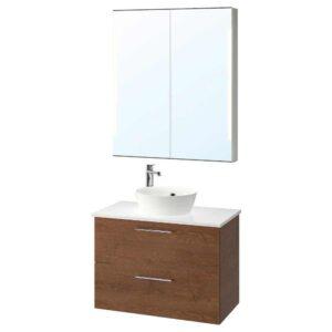 ГОДМОРГОН/ТОЛКЕН / КАТТЕВИК Комплект мебели для ванной,5 предм. - 993.223.32