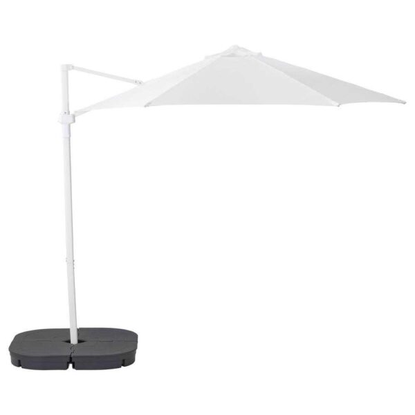 ХЁГЁН Зонт от солнца с опорой, белый, Сварто темно-серый, 270 см - 793.210.03