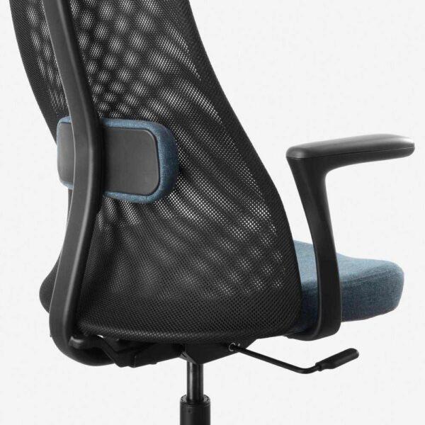 ЭРВФЬЕЛЛЕТ Рабочий стул с подлокотниками, Гуннаред синий, черный - 693.863.68