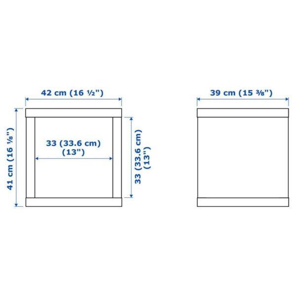 КАЛЛАКС Стеллаж, черно-коричневый, 42x42 см - 603.290.18
