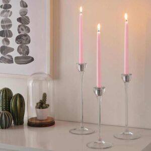 КЛОКХЕТ Неароматическая свеча, светло-розовый, 25 см - 704.525.26