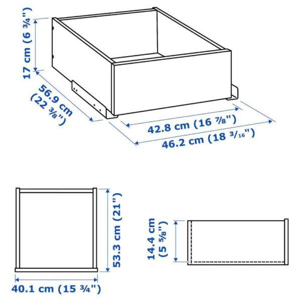 КОМПЛИМЕНТ Ящик/стеклянная фронтальная панель, белый, 50x58 см - 804.470.25