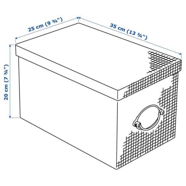 КВАРНВИК Коробка с крышкой, бежевый, 25x35x20 см - 704.594.86
