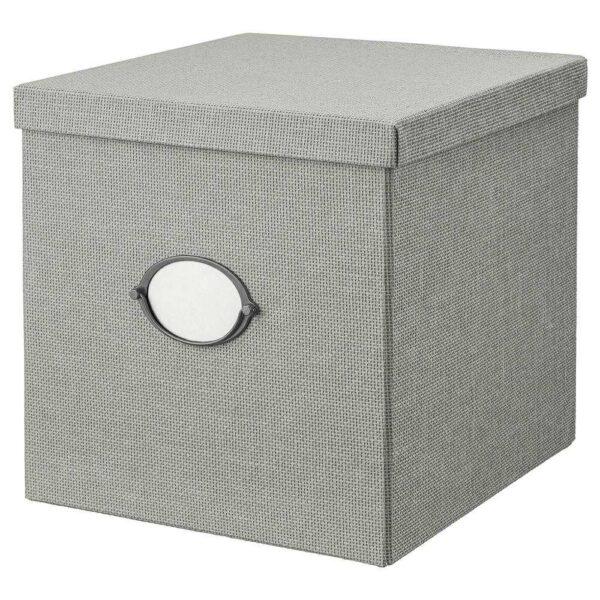 КВАРНВИК Коробка с крышкой, серый, 32x35x32 см - 704.669.53