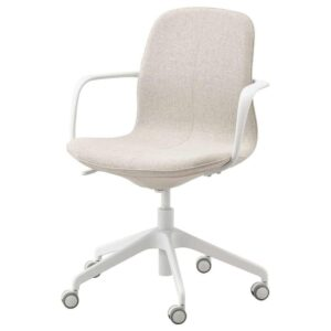 ЛОНГФЬЕЛЛЬ Рабочий стул, Гуннаред бежевый, белый - 693.117.64