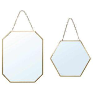 ЛАССБЮН Зеркало, 2 шт, золотой - 104.536.99