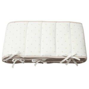 ЛЕНАСТ Мягкий бортик, точечный, белый серый, 60x120 см - 504.539.04