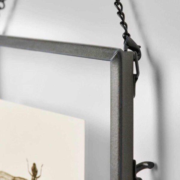 ЛЕРБУДА Рама, темно-серый, 20x25 см - 404.590.96