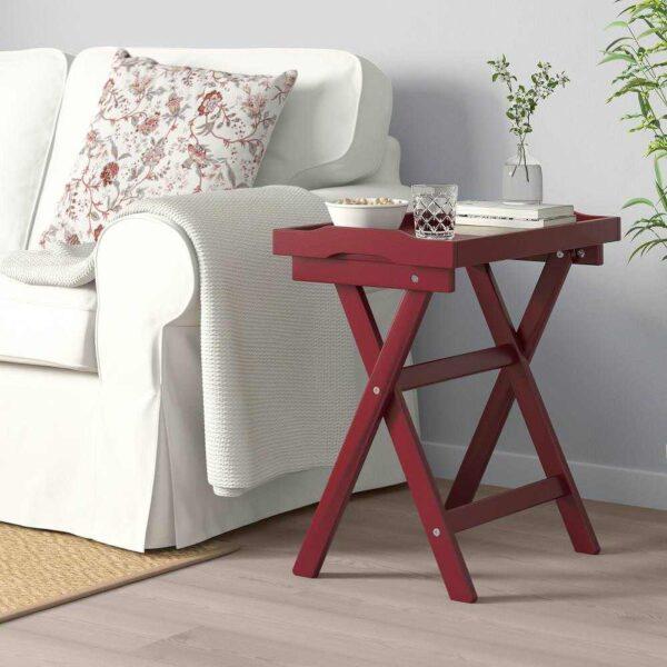 МАРЮД Стол сервировочный, темно-красный, 58x38x58 см - 904.756.59