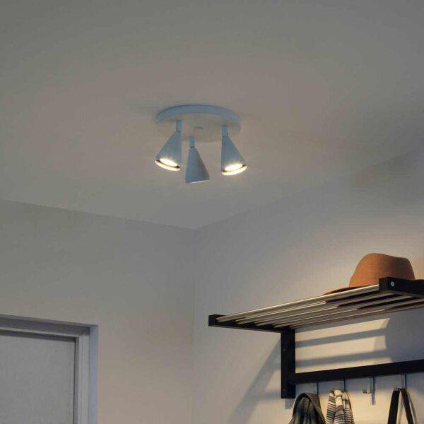НЭВЛИНГЕ Потолочный софит, 3 лампы, белый - 004.076.84