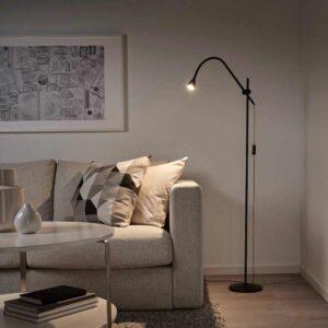 НЭВЛИНГЕ Светильник напольный, светодиодный, черный - 804.051.05