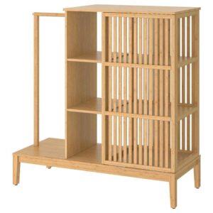 НОРДКИЗА Открытый гардероб/раздвижная дверь, бамбук, 120x123 см - 704.394.79