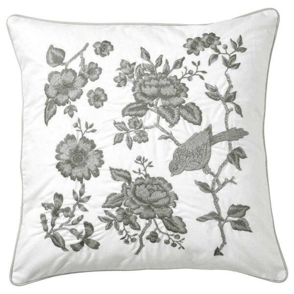 ПРАКТБРЭККА Подушка, белый, светло-серый, 50x50 см - 604.556.10