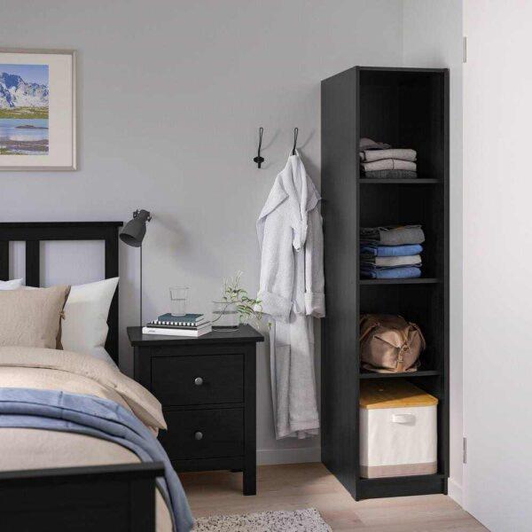 РАККЕСТАД Открытый гардероб, черно-коричневый, 39x176 см - 004.537.51