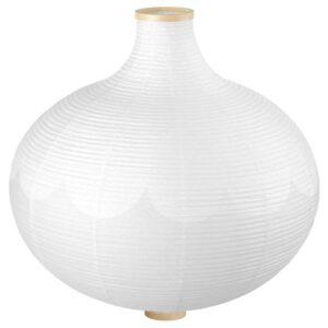 РИСБЮН Абажур для подвесн светильника, в форме луковицы, белый, 57 см - 804.056.81