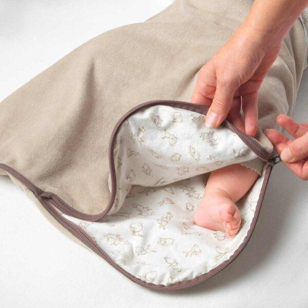 РЁДХАКЕ Спальный мешок, бежевый, орнамент «кролики», 0-6 - 404.401.63