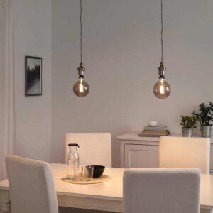 РОЛЛЬСБУ / ГОТХЕМ Подвесной светильник с лампочкой - 793.204.28