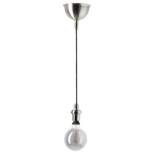 РОЛЛЬСБУ Светодиод E27 140 лм, регулируемая яркость, шаровидный серое прозрачное стекло, 125 мм - 604.116.35