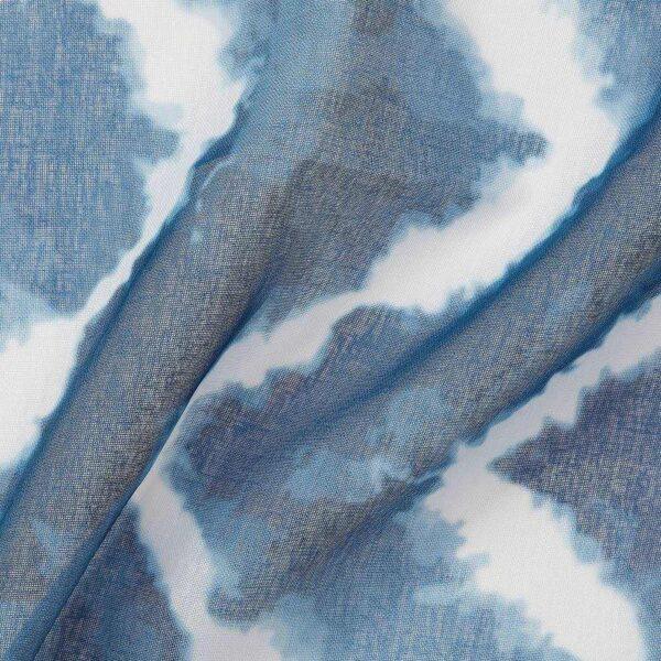 САГАЛИЛЛЬ Гардины, 2 шт., синий/белый, 145x300 см - 704.647.89